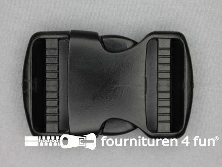 Parachute gesp 40mm zwart