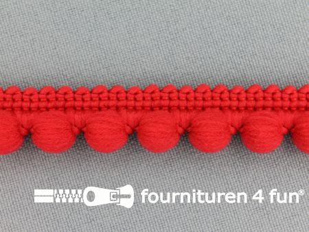 Bolletjesband 15mm rood