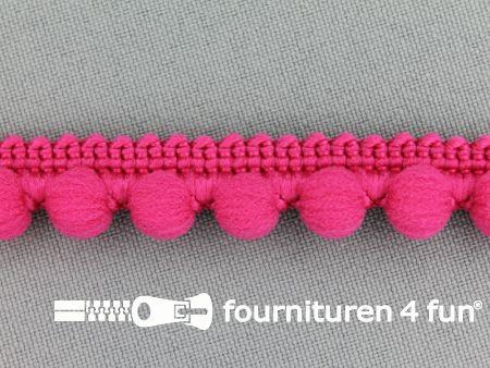 Bolletjesband 15mm fuchsia roze