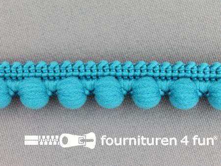 Bolletjesband 15mm aqua blauw