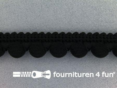 Bolletjesband 15mm zwart