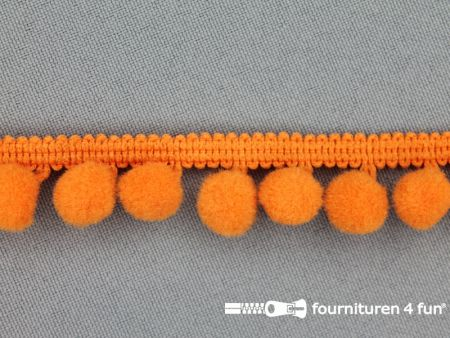 Bolletjesband 18mm oranje