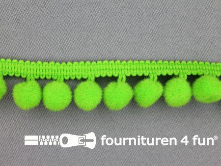 Bolletjesband 18mm lime groen