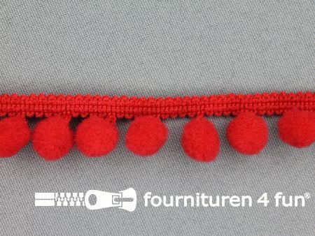 Bolletjesband 18mm rood