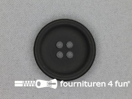 Mantel knoop 31mm zwart