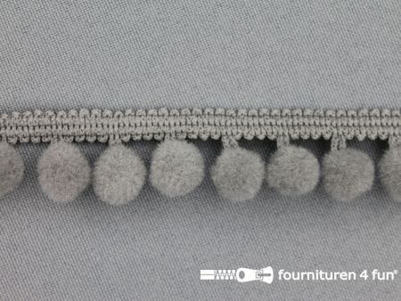 Bolletjesband 18mm grijs