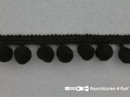 Bolletjesband 18mm zwart