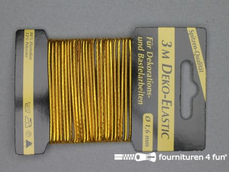 Elastisch koord 1,6mm goud kaart 3 meter
