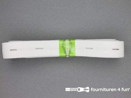 Knoopsgaten elastiek 20mm wit 2 meter