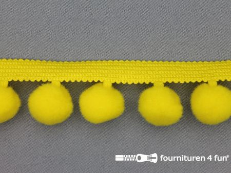 Bolletjesband 40mm fel geel