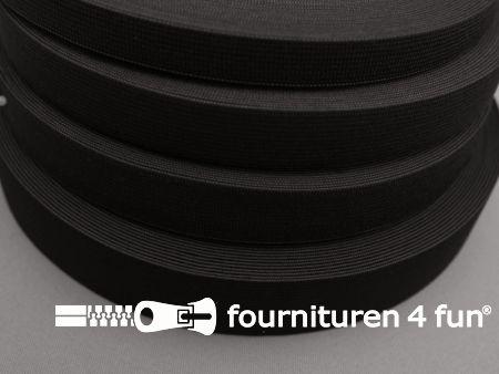 Band elastiek 14mm soepel rol zwart 25 meter