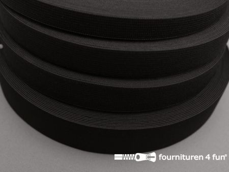 Band elastiek 22mm soepel rol zwart 25 meter