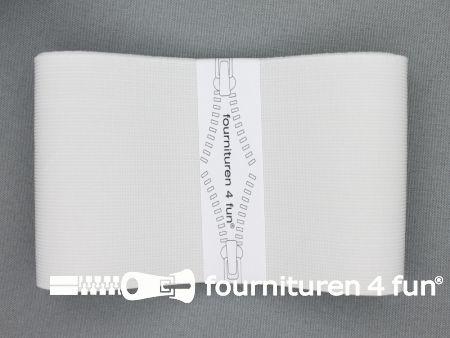 Band elastiek 80mm stevig wit 1 meter