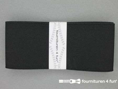 Band elastiek 60mm stevig zwart 1 meter