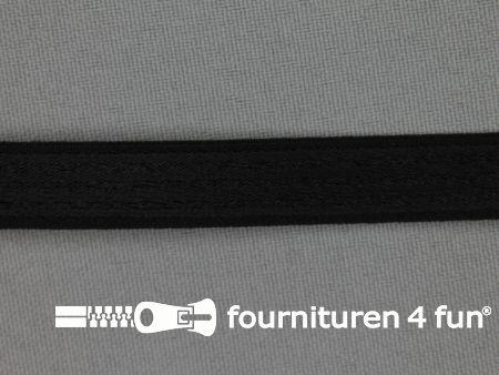 Schouderband elastiek 12mm zwart