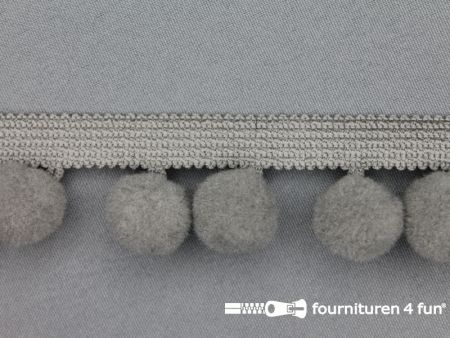 Bolletjesband 40mm grijs