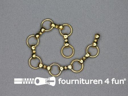 Ketting 17,5cm hanger goud