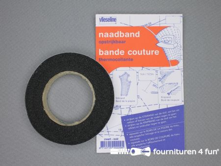 Vlieseline® naadband 10mm zwart