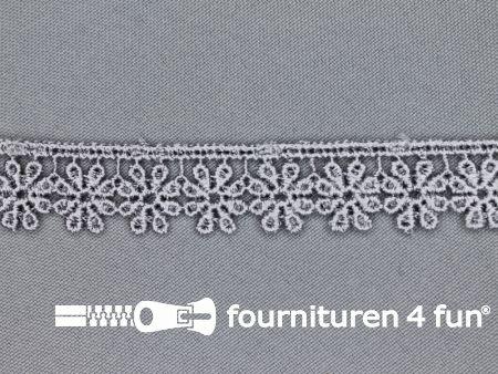 Bloemenkant 18mm midden grijs