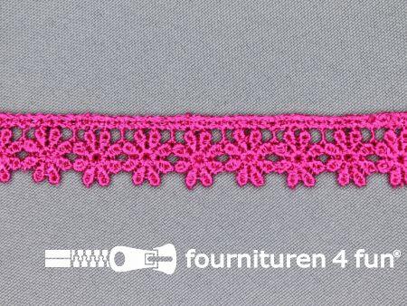 Bloemenkant 18mm fuchsia roze