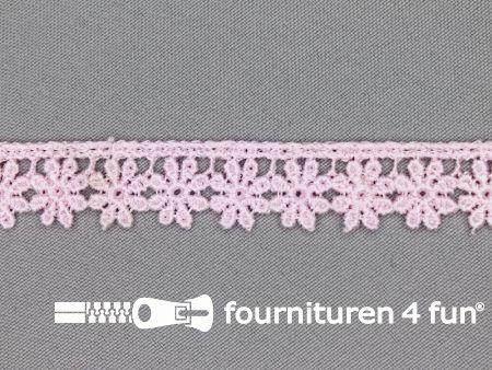 Bloemenkant 18mm licht roze