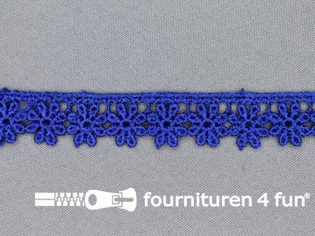 Bloemenkant 18mm kobalt blauw