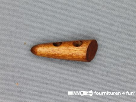 Houtje touwtje knoop 30mm camel hout