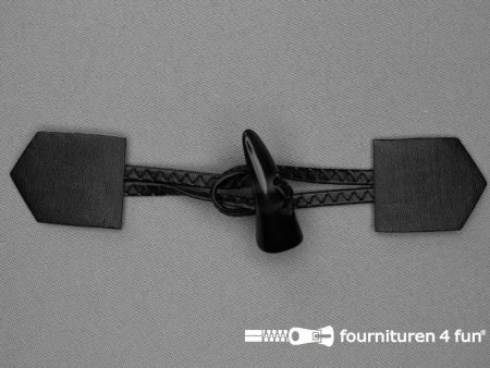 Skai houtje touwtje 45x180mm zwart