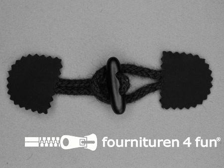 Canvas houtje touwtje 40x150mm zwart