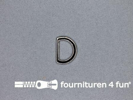 D-ring 16mm chroom plat