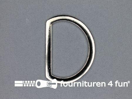 D-ring 40mm chroom plat