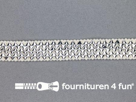 Bling bling band 16mm zilver