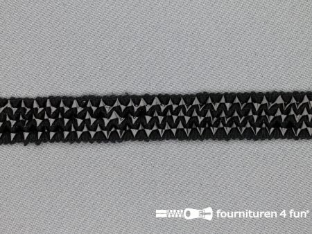 Bling bling band 16mm zwart