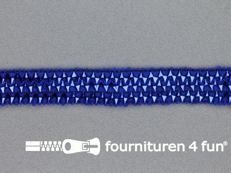 Bling bling band 16mm kobalt blauw
