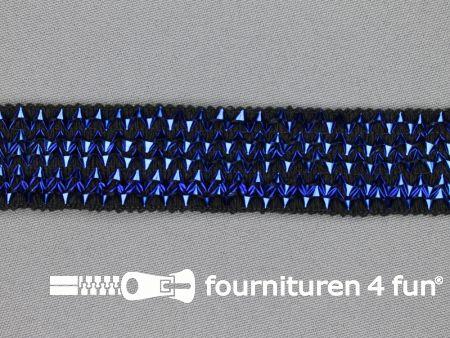 Bling bling band 25mm kobalt blauw