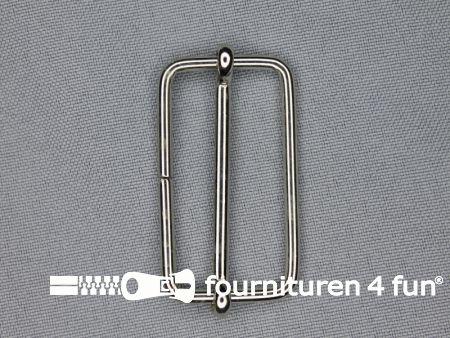 Schuifgesp 40mm zilver