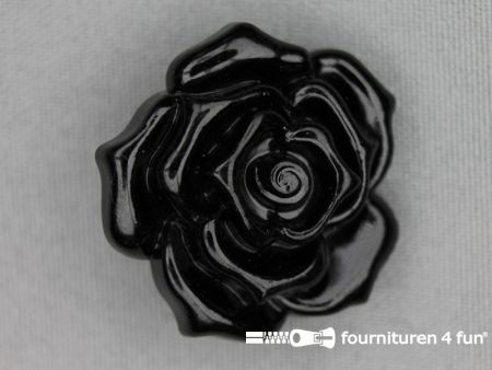 Ibiza knoop 35mm roos zwart