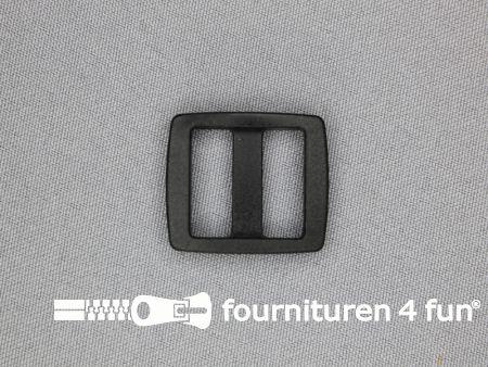 Schuifgesp 17mm zwart kunststof