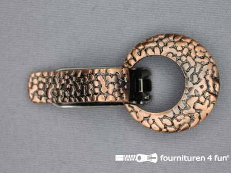 Metalen clips 32mm rosé brons