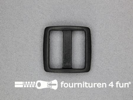 Schuifgesp 25mm zwart kunststof