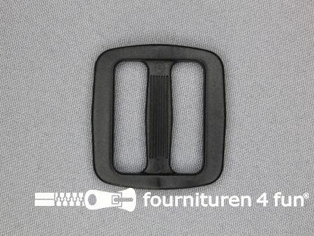 Schuifgesp 32mm zwart kunststof