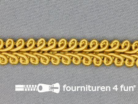 Viscose galon 11mm goud geel