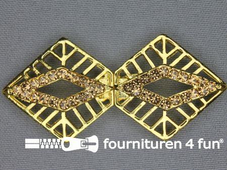 Siersluiting 30x65mm goud