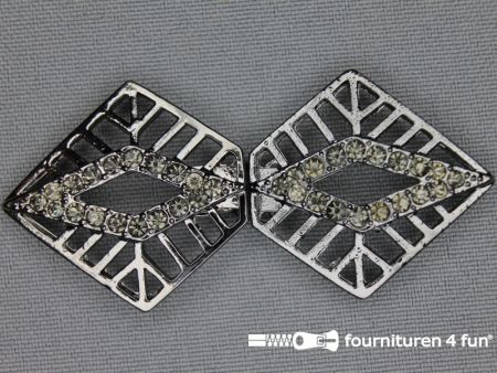 Siersluiting 30x65mm zwart zilver