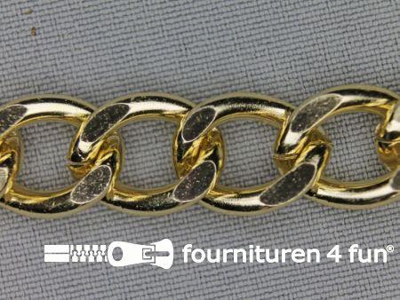 Ketting 13mm goud