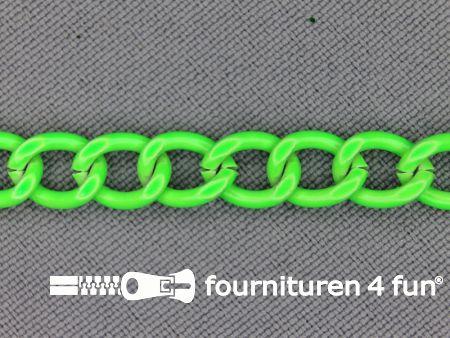 Ketting 7mm neon groen