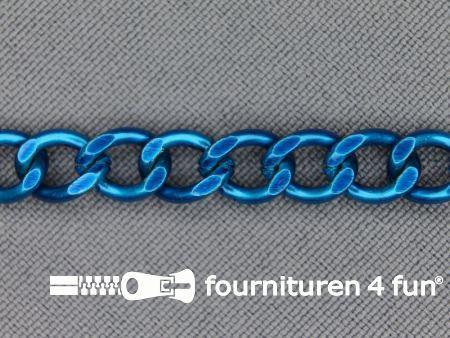 Ketting 7mm aqua blauw