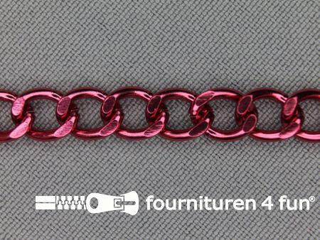 Ketting 7mm koraal roze-rood