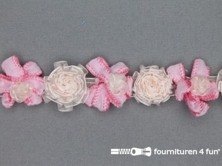 Bloemenkant 26mm licht roze