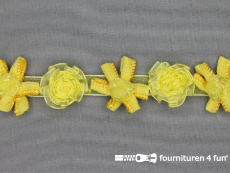 Bloemenkant 26mm fel geel